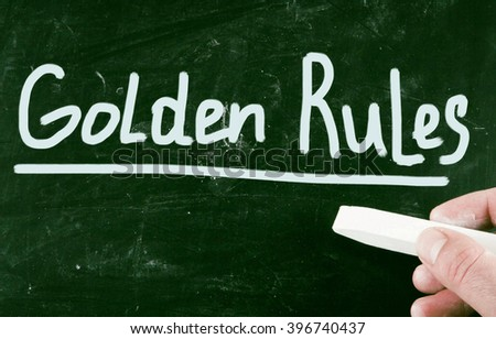 golden rules - stock photo