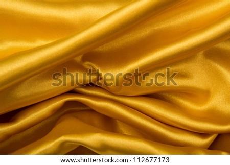 golden satin background - stock photo