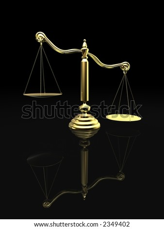 golden scale - stock photo