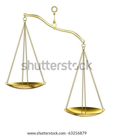 Golden scales - stock photo