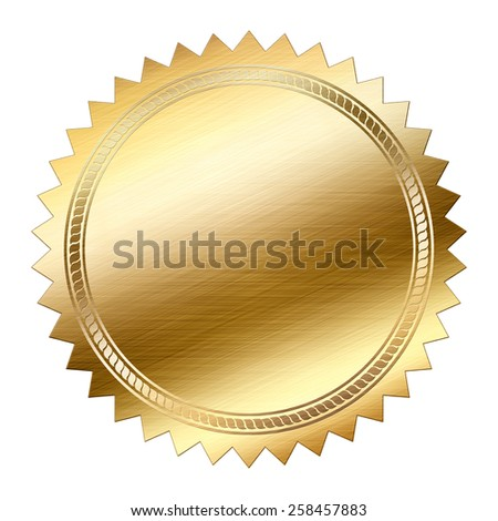 Golden Seal isolated on white background - stock photo