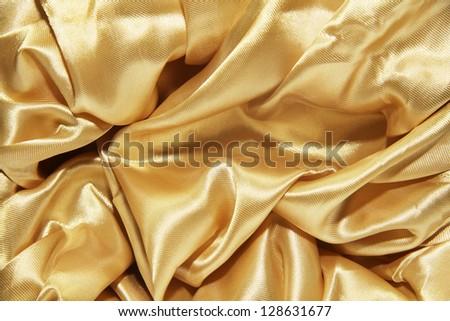 Golden Silk - stock photo