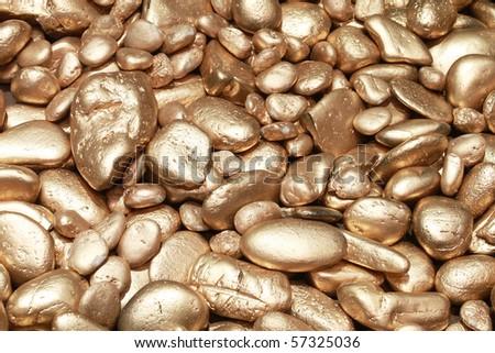 Golden stone background - stock photo