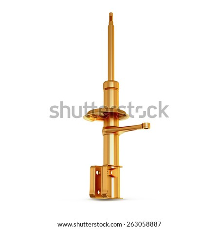 Golden strut isolated on white  background  High resolution - stock photo