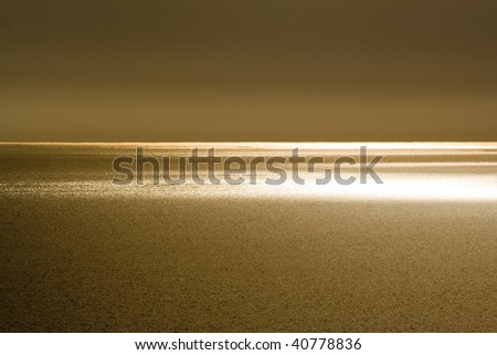 golden sunset - Black Sea - stock photo