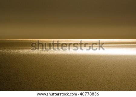 golden sunset - Black Sea - stock photo