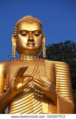 Golden Temple in Dambulla, Sri Lanka - stock photo