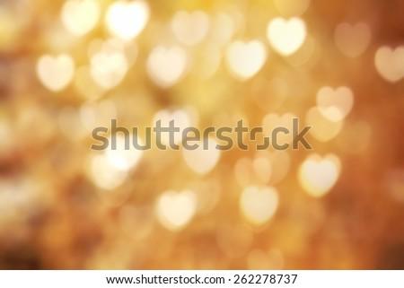 Golden texture bokeh of light. Element of design. - stock photo