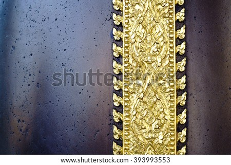 Golden Thai decorative pattern, suitable for background - stock photo