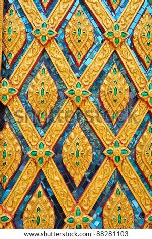 Golden Thai style pattern design - stock photo