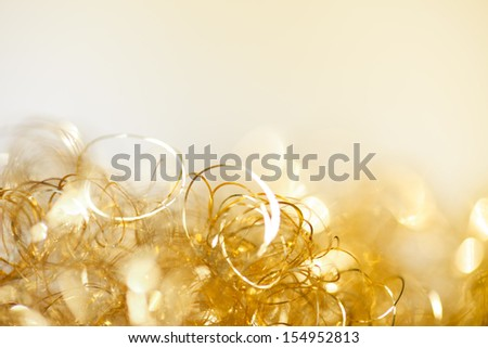 golden twinkle christmas background - stock photo