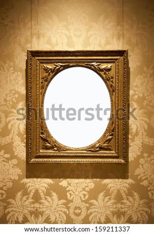 Golden vintage frame  - stock photo