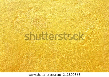 golden wall texture background - stock photo