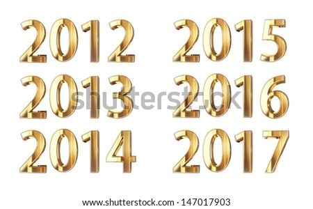 Golden years isolated on black with clipping path - stock photo