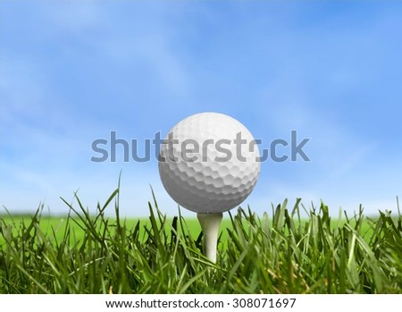 Golf. - stock photo