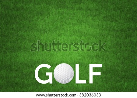 Golf Background - stock photo