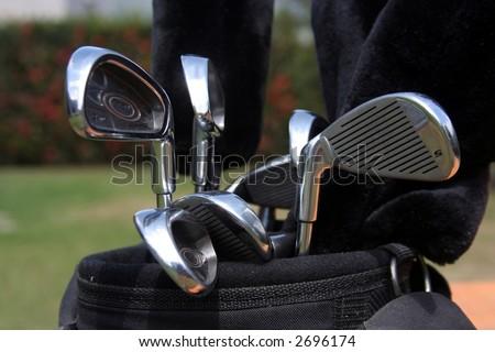 Golf Bag - stock photo