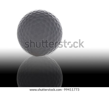 golf ball as white isolate background - stock photo