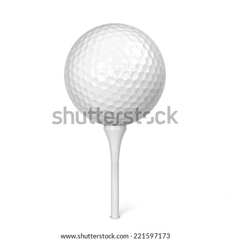 Golf ball. 3d illustration isolated on white background - stock photo