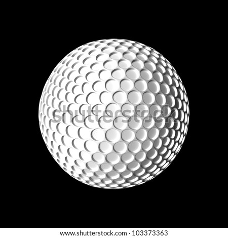 Golf ball for adv or others purpose - stock photo