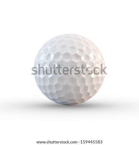 Golf ball. isolated - stock photo