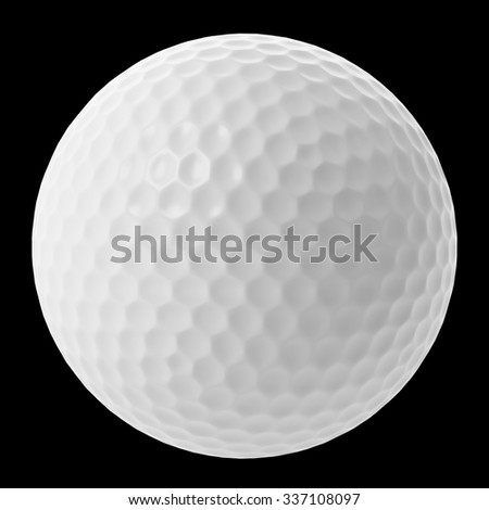 golf ball isolated on black background - stock photo