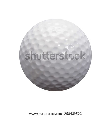 Golf ball isolated on white background. This has Clipping path.  - stock photo