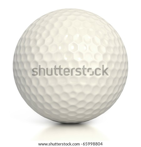golf ball isolated over white background - stock photo