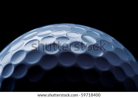 golf ball on black - stock photo