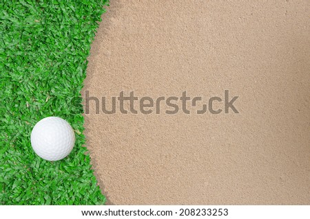 Golf ball on the golf course - stock photo