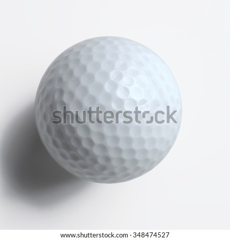 golf ball with clipping path - stock photo
