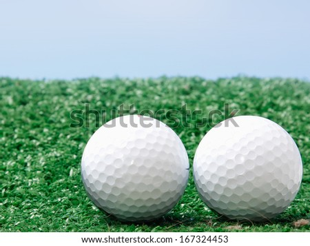 Golf balls - stock photo