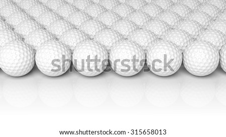 Golf balls, isolated on white background  - stock photo