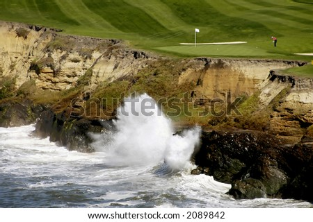 Golf By The Sea 4 - stock photo