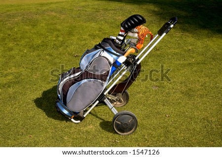 golf car - stock photo