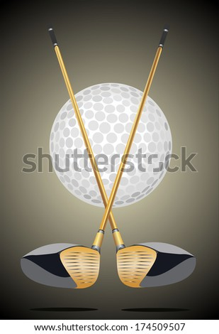 golf club icon - stock photo