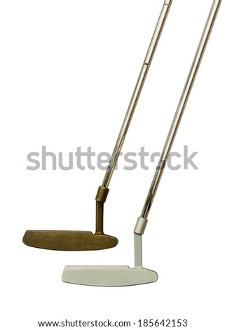 Golf club Putter isolated on white background. - stock photo
