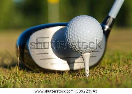 golf course - stock photo