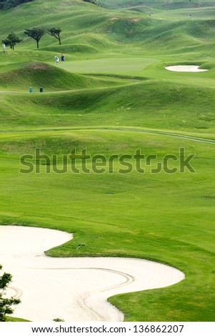 golf course for adv or others purpose use - stock photo