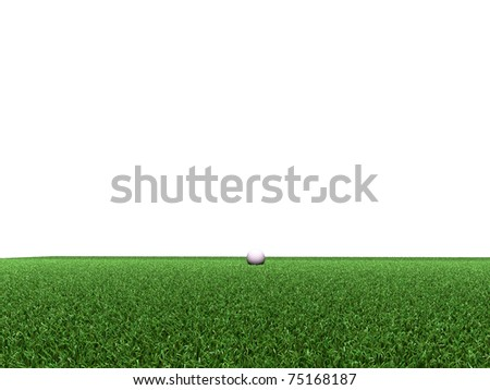 golf course isolated on white background - stock photo
