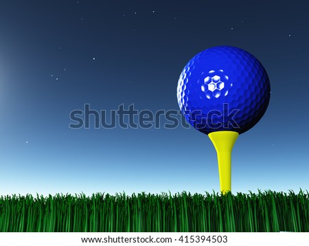 Golf Day 3D Render - stock photo