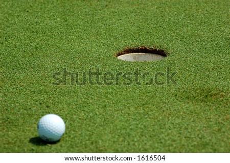 Golf dof (ball not in focus) - stock photo