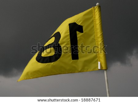Golf Flag Eighteen - stock photo