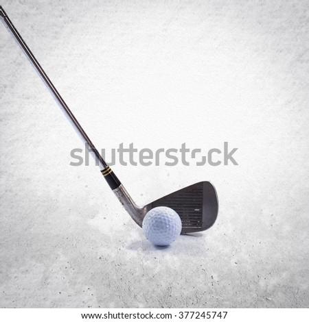 Golf items - stock photo