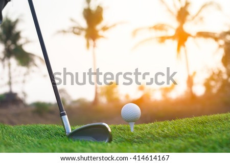 Golf on a sunny day - stock photo