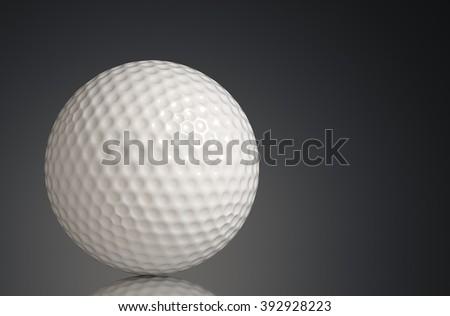 Golf on the floor 3d rendering. - stock photo
