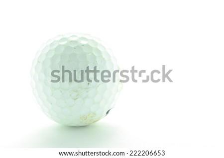 Golf on white background - stock photo