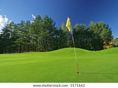 Golf playground on sunny day - stock photo