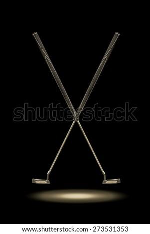 Golf Putter, long putter, belly putter - stock photo