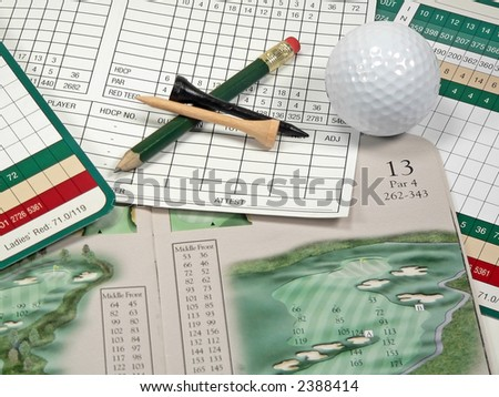 Golf Scorecards - stock photo